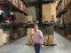 Unser Lagerleiter Adnan im Hochregallager